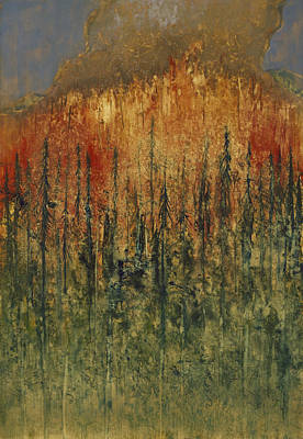 Wildfire Painting - Linda's Fire by Tonja Opperman