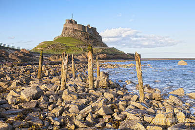 Lindisfarne Photograph - Lindisfarne Castle Holy Island Northumberland by Colin and Linda McKie