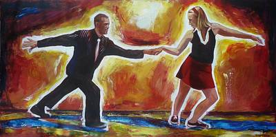 Swing Painting - Lindy Hop In Waterloo by Sheila Diemert