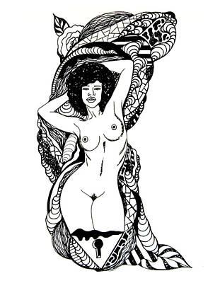 Line Tease No. 2 Print by Kenal Louis