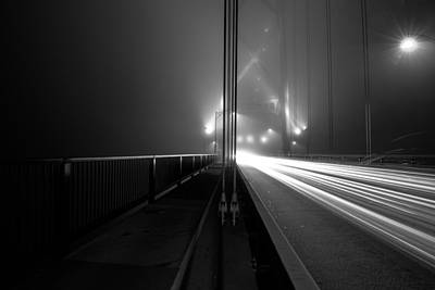 Doppelganger Photograph - Lines And Fog by Alex Land