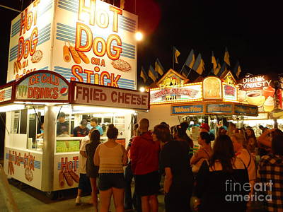Lines At Hot Dog On A Stick Print by Paddy Shaffer