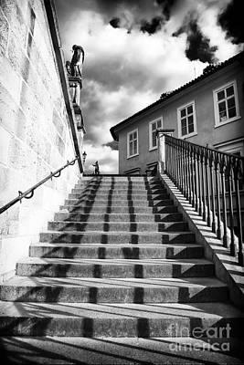 Galleries On Line Photograph - Lines On The Stairs by John Rizzuto