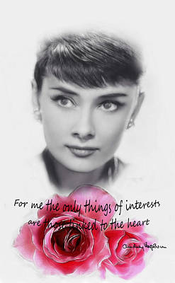Audrey Hepburn Mixed Media - Linked To The Heart by Steve K