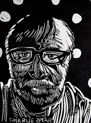 Lino Drawing - Lino Cut Charlie Spear by Charlie Spear