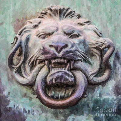 Brass Snake Digital Art - Lion And Snake by Liz Leyden