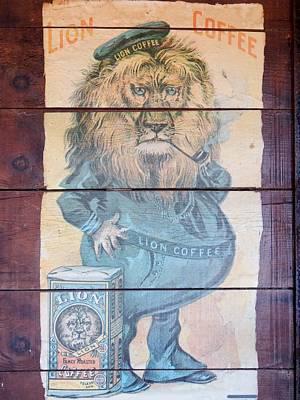Lion Coffee Print by Susan Ince