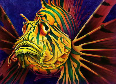 Lions Painting - Lionfish by Scott Spillman