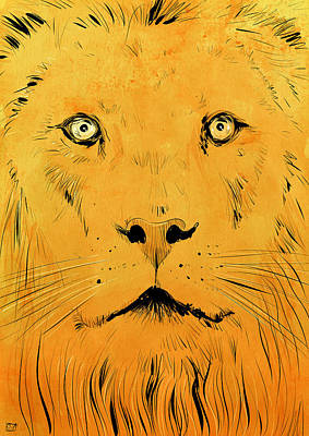Pop Art Drawing - Lion by Giuseppe Cristiano