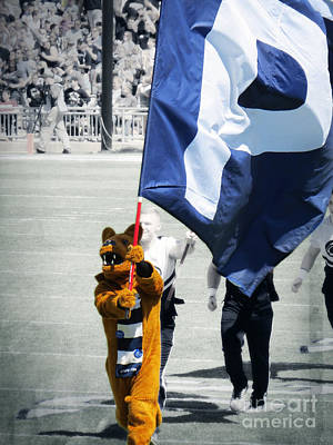 Penn State University Photograph - Lion Leading The Team by Dawn Gari