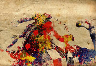 Rasta Painting - Lion by Bekim Art