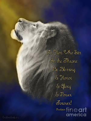 Christian Artwork Digital Art - Lion Of Judah Adoration by Constance Woods