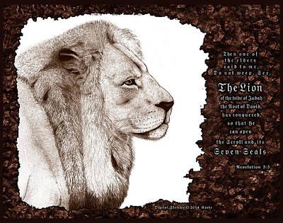 Revelation Mixed Media - Lion Of Judah by Christopher Korte
