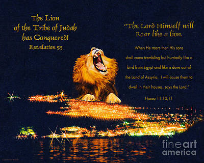 Lion Of Judah Has Conquered Print by Constance Woods