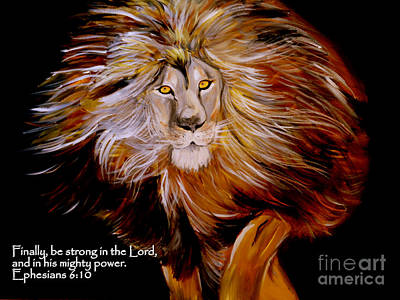 Lion Of Judah Painting - Lion Of Judah Strength by Amanda Dinan