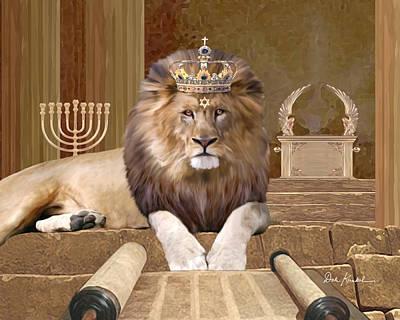 Lion Of Judah Painting - Lion Of The Tribe Of Judah by Dale Kunkel Art