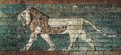 Lion Representing Ishtar, Frieze Print by Everett