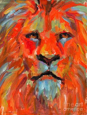 Austin Painting - Lion by Svetlana Novikova