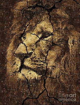 Cave Art Drawing - Lion -wall Art by Dragica  Micki Fortuna