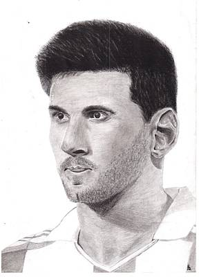 Messi Drawing - Lionel Messi by Ajay G