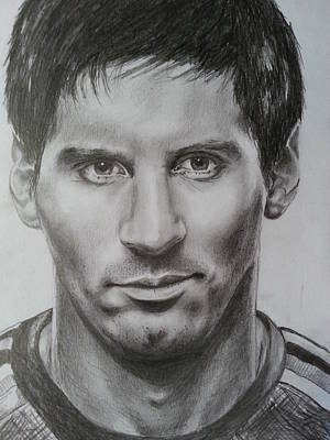 Messi Drawing - lionel Messi by Timothy Raj