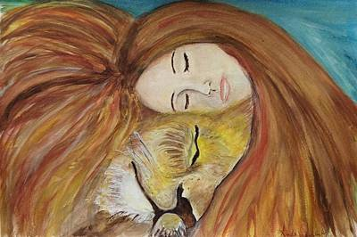 Heart Images Painting - Lioness Heart by Linda Waidelich