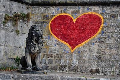 Grafitti Photograph - Lionheart by Thomas Marchessault
