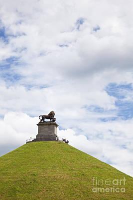 Lions Mound Memorial To The Battle Of Waterlooat Waterloo Belgium Europe Print by Jon Boyes