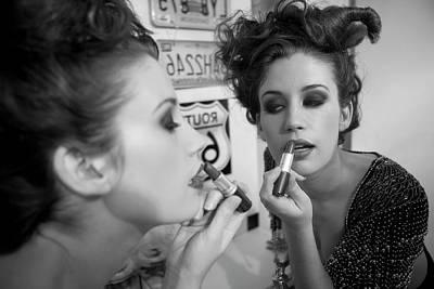 Sexy Naked Girls Photograph - Lipstick by Lloyd Rosen
