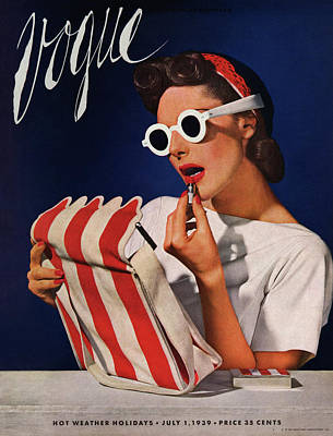 Magazine Cover Photograph - Lipstick, Quick! by Horst P. Horst