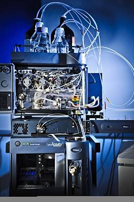 Liquid Chromatography Machine Print by Science Photo Library