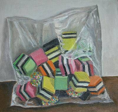 Allsorts Photograph - Liquorice Allsorts, 2004, Oil On Canvas by Ruth Addinall