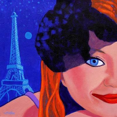 Lisa Darling - Paris - Irish Burlesque Print by John  Nolan