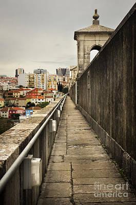 Gothic Bridge Photograph - Lisbon Aqueduct by Carlos Caetano
