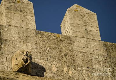 Ancient Photograph - Lisbon Cathedral Gargoyle 3 by Deborah Smolinske