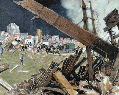 Destruction Photograph - Lisbon, Portugal, After The Earthquake by Prisma Archivo