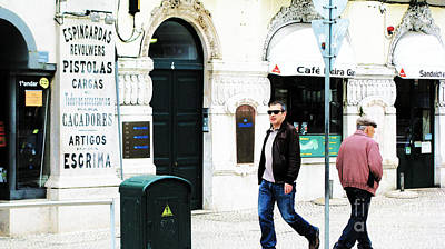 Statesmen Digital Art - Lisbona Banner by Alice Gardoni