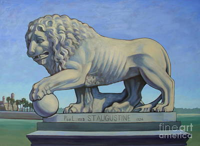 Listen To The Lion I Print by Teri Tompkins