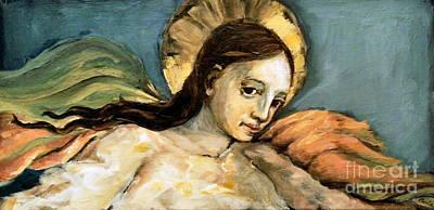 Listening Angel Print by Carrie Joy Byrnes