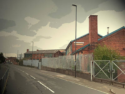 Litchurch Lane In Derby, Industrial Area Located Print by Litz Collection