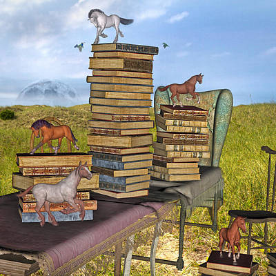 Horse Mixed Media - Literary Levels by Betsy C Knapp