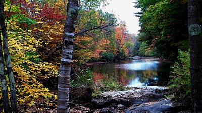 Little Androscoggin River Print by Mike Breau