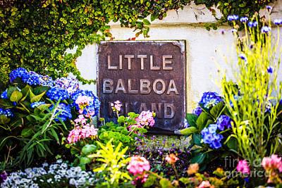 Little Balboa Island Sign In Newport Beach California Print by Paul Velgos