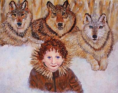 Little Bernard And The Wolves Print by The Art With A Heart By Charlotte Phillips
