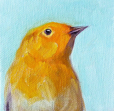 Chirp Painting - Little Bird by Nancy Merkle