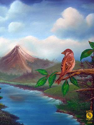 Little Bird Print by Richard Bantigue