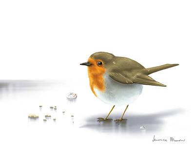 Digital Painting - Little Bird by Veronica Minozzi
