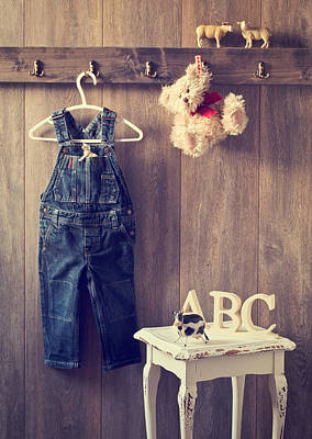Vintage Clothes Photograph - Little Boy's Bedroom by Amanda Elwell