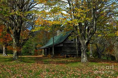Log Cabin Photograph - Little Cabin In The Woods by Benanne Stiens
