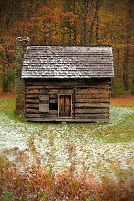 Old Cabins Photograph - Little Cabin by Jaki Miller